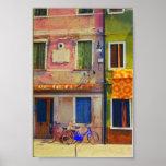 Copie d'affiche de Venise de scène de rue de Buran Poster