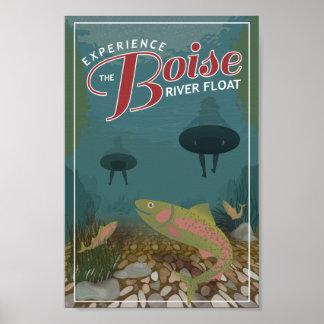 Copie d'affiche du flotteur | de rivière de Boise Poster