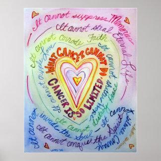 Copie d'art d'affiche de coeur de Cancer d'arc-en-