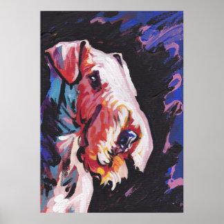 Copie d'art de bruit d'Airedale Terrier Affiche