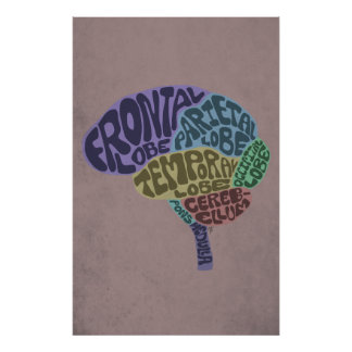 Copie d'art de cerveau affiche