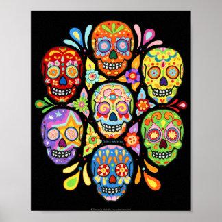 Copie d'art de crânes de sucre posters