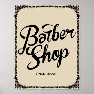 copie d'art de poster vintage de salon de coiffure