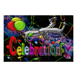 Copie d'art numérique de célébration poster