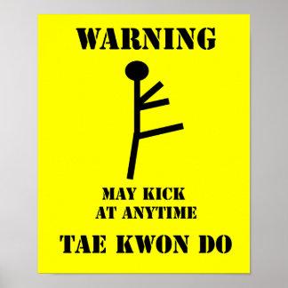 Copie d'avertissement d'affiche du Taekwondo