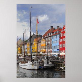 Copie de beaux-arts de couleur de Copenhague Poster