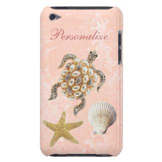 Copie de bijou de tortue de mer, étoiles de mer et coque barely there iPod