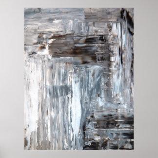 Copie de Brown, grise et blanche d'art abstrait d' Posters