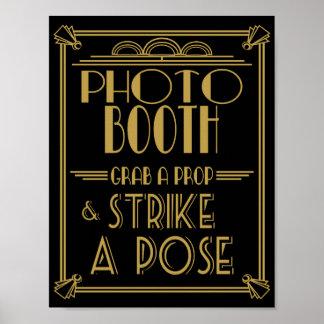 Copie de cabine de photo d'art déco des années 20 posters