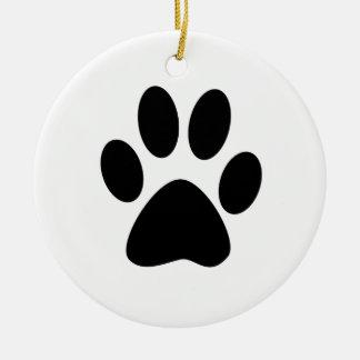 Copie de chien ornement rond en céramique