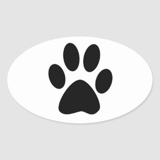 Copie de chien sticker ovale