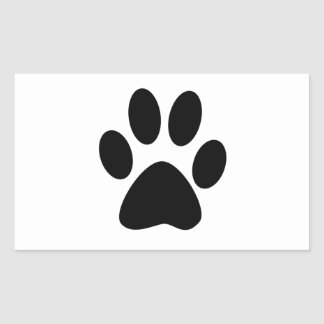 Copie de chien sticker rectangulaire