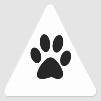 Copie de chien sticker triangulaire