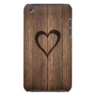Copie de coeur brûlée par bois rustique coques iPod touch