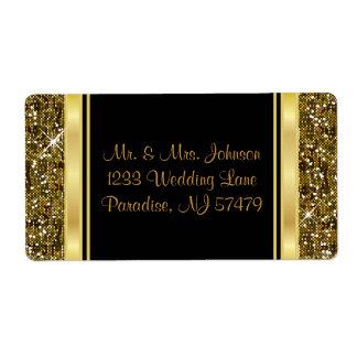 Copie de confettis de scintillement d'or étiquettes d'expédition