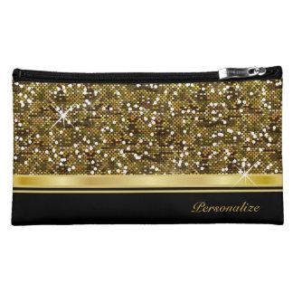 Copie de confettis de scintillement d'or nécessaire pour maquillage