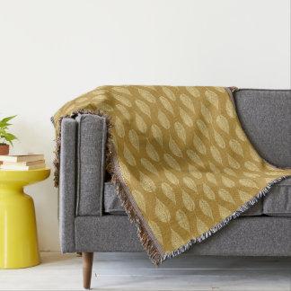 Copie de craie de feuille de hêtre, jaune de couvre pied de lit