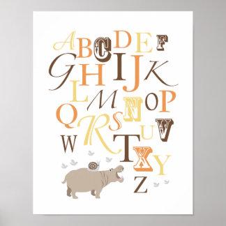Copie de crèche d'alphabet d'ABC Poster