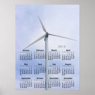 Copie de ~ de calendrier de turbine poster