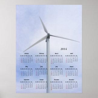 Copie de ~ de calendrier de turbine affiche