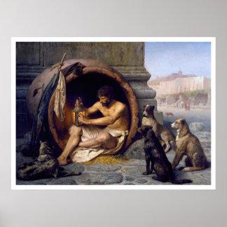 Copie de Diogène et d'affiche de chiens par Gérôme Posters