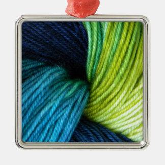 Copie de fil, tricot, crochet ornement carré argenté