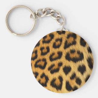 Copie de fourrure de léopard porte-clé rond