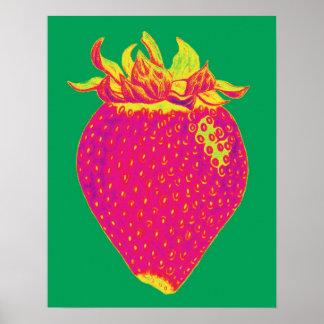 Copie de fraise d'art de bruit affiche