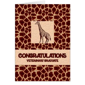 Copie de girafe de diplômé de vétérinaire de cartes