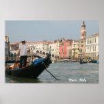 Copie de gondole de canal de Venise, Italie Posters