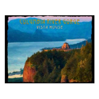 Copie de gorge du fleuve Columbia rétro et de Carte Postale