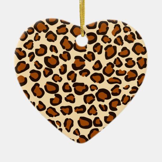 Copie de guépard - ornement de coeur
