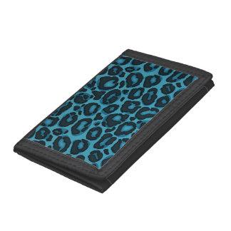 Copie de Jaguar de léopard sur le cuir bleu