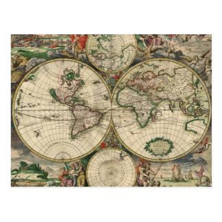 Copie de la carte 1689 du monde cartes postales