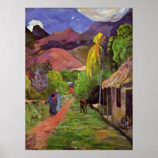 "Copie de la ""rue De Tahiti"" - Paul Gauguin Poster"