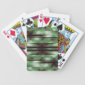 Copie de motif de Camo de rayures Cartes À Jouer