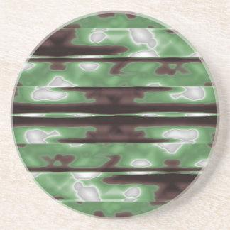Copie de motif de Camo de rayures Dessous De Verre