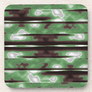 Copie de motif de Camo de rayures Dessous-de-verre