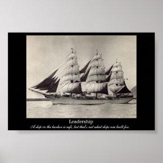 Copie de motivation de bateau de voile de DIRECTIO Affiche