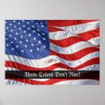 Copie de ondulation patriotique d'art de drapeau a posters