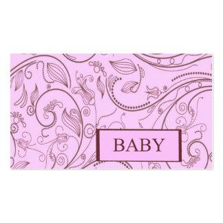 Copie de Paisley de bébé de fille Carte De Visite Standard