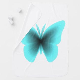 Copie de papillon d'Aqua Couvertures De Bébé