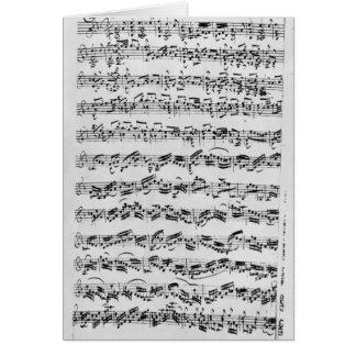 Copie de 'Partita dans le mineur de D pour Violin Carte De Vœux
