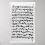 Copie de 'Partita dans le mineur de D pour Violin Poster