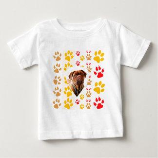 Copie de pattes de coeur de Dogue de Bordeaux Dog T-shirt Pour Bébé