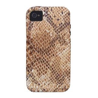 Copie de peau de serpent de python pour l iPhone Étui iPhone 4