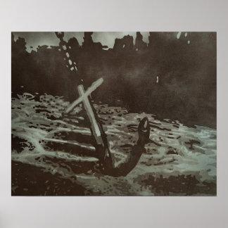 "Copie de peinture de ""ancre"" poster"