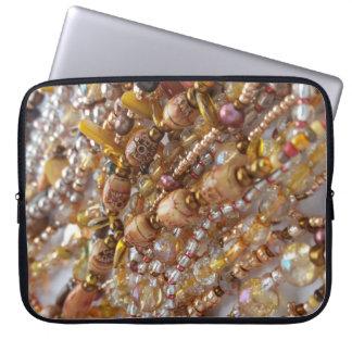 Copie de perle de tons de la terre de douille trousse ordinateur