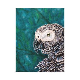 Copie de perroquet de gris africain sur la toile