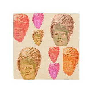 Copie de perruque de ruche de Donald Trump sur le Impression Sur Bois